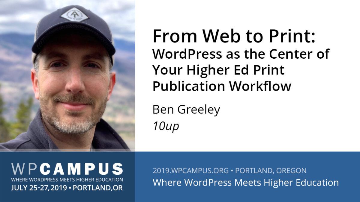 From web to print: WordPress as the center of your higher ed print